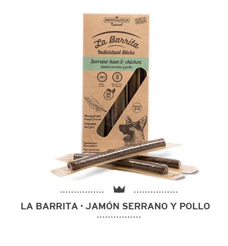 La-Barrita-de-Mediterranean-Natural-para-perros-jamon-serrano-y-pollo-sticks